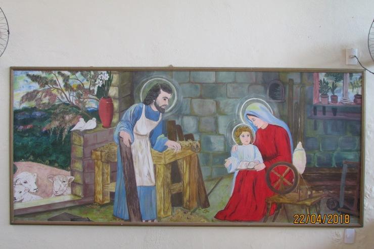 Quadro da Sagrada Família pintado pela artista d. Jane nascimento (1)